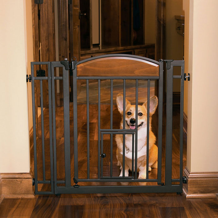 Metal Walk Through Pet Gate - Carlson Home Decor